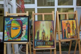 Картини на младеж с увреждания красят Атриума на Областта