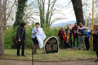 Церовска официално откри паметната плоча по повод 100 годишнината на футбола в Перник