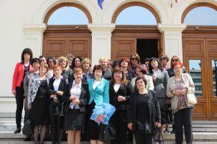 Жените от ГЕРБ посетиха Народното събрание