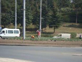 Кола удари бус по линията Перник - Брезник
