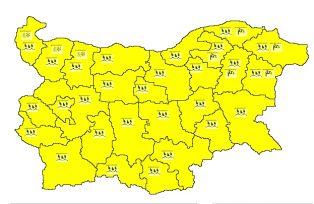 Жълт код за цяла България. На места ще вали дъжд, на други сняг