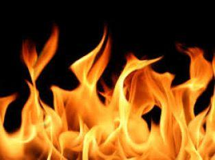 Пожар горя в Кошарево