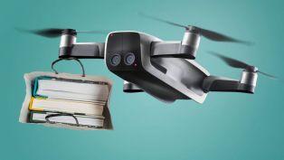 Книги летят с дрон за 24 май в Перник