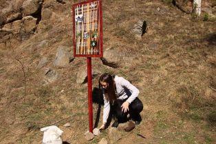 Младежи поставят информационни табла на Витоша